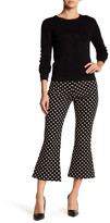 Nicole Miller Lurex Dots Cropped Flare Pant