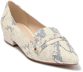 Cole Haan Mabel Skimmer Braided Snakeskin Embossed Leather Loafer