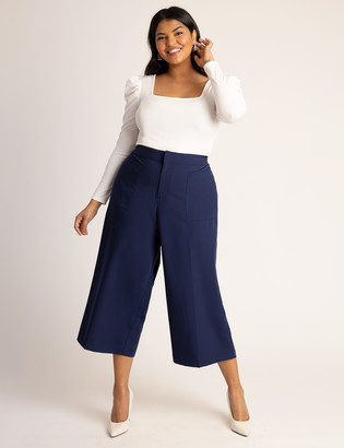 ELOQUII Crop Pant with Patch Pockets