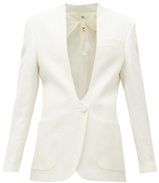 Petar Petrov Jaclyn Single-breasted Canvas Jacket - Ivory