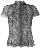 Wunderkind floral lace panelled blouse