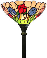 AMORA Amora Lighting AM1055FL14 Tiffany Style Tulips Torchiere Lamp 70 Inches Tall