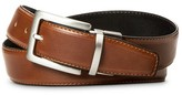 Merona Men's Reversible Stitched Feather Edge Belt Brown
