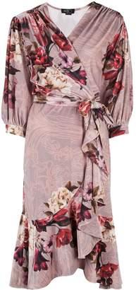PatBO floral print wrap dress