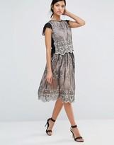 Little Mistress Lace Overlay Skirt