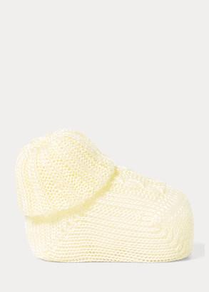 Ralph Lauren Cable-Knit Cotton Booties