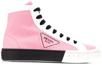 Prada High-Top Gabardine Sneakers