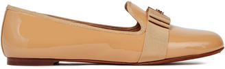 Tory Burch Camellia Grosgrain-trimmed Patent-leather Loafers
