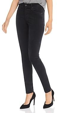 AG Jeans Farrah Velvet Skinny Jeans in Super Black