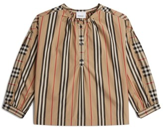 Burberry Kids Icon Stripe Blouse (3-12 Years)