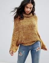 Free People Velvet Dreams Wool Blend Roll Neck Jumper