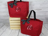 Etsy 5 Personalized Bridesmaid Gift Tote Bags- Wedding Party Gift- Bridal Party Gift- Initial Tote- Mothe
