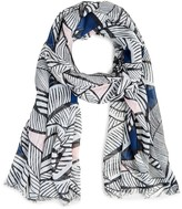 Sole Society Palm Print Scarf