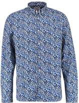 Knowledge Cotton Apparel Allover Flower Shirt Peacoat