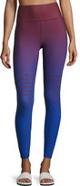 Stella McCartney Training Miracle Sculpt Ombré; Performance Leggings, Blue/Red