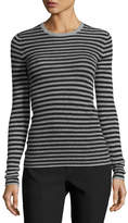 Vince Striped Rib Cashmere Crewneck Sweater