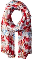 Bindya Striped and Floral Scarf