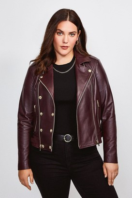 Karen Millen Curve Leather Military Biker