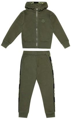 Moncler Enfant Cotton jersey tracksuit