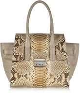 Ghibli Gray Python and Leather Satchel