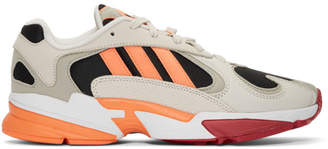 adidas Beige and Black Yung-1 Sneakers