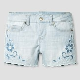 Cat & Jack Girls' Denim Shorts with Scalloped Hem Light Wash