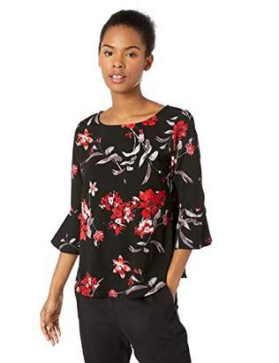 Amy Byer A. Byer Junior's Bell Sleeve Top