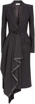 Alexander McQueen Selvedge Drape Coat