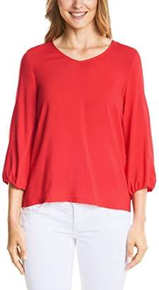 Street One Women's 312263 Longsleeve T-Shirt, (Hibiscus red 116), 8 (Size:)