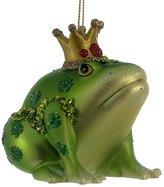 Kurt Adler Glass Frog With Crown Christmas Ornament