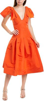 Oscar de la Renta Silk A-Line Dress