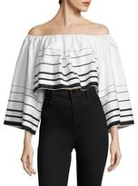 KENDALL + KYLIE Printed Off-the-Shoulder Top