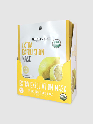 Biorepublic Skincare Extra Exfoliation Organic Facial Sheet Masks