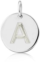 Auree Jewellery Westbourne 9Ct White Gold Initial Disc Pendant
