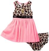 Juicy Couture Animal Print Top Dress & Bloomer Set (Baby Girls 0-9M)