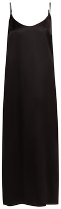 La Perla Lunga Scoop-neck Silk-satin Slip - Black