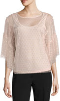 WORTHINGTON Worthington Short Sleeve Scoop Neck Knit Blouse