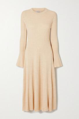 ANNA QUAN Isla Backless Ribbed Cotton Midi Dress