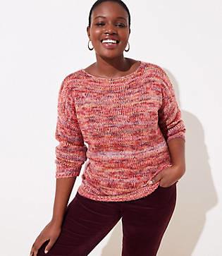 LOFT Plus Spacedye Boatneck Sweater