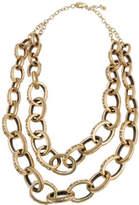 Barse Women's Bronze Large Link Statement Necklace JUBIN06BRZ