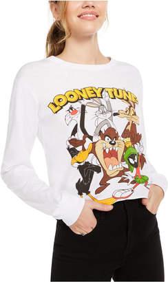 Looney Tunes Warner Brothers Juniors' Graphic Print Long-Sleeve T-Shirt