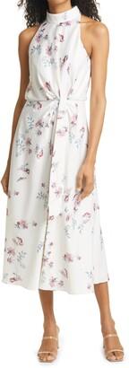 Ted Baker Zoeeey Floral Halter Neck Midi Dress