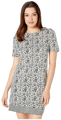 Lucky Brand Woodblock Print T-Shirt Dress (Green Multi) Women's Dress