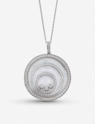 Chopard Happy Spirit 18ct white-gold and diamond pendant