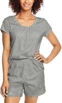 Hanes Gray Foulard Pajama Shorts Set