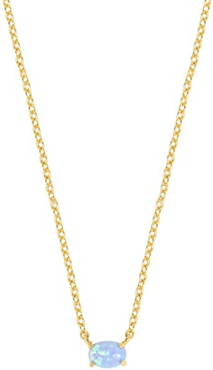 Ettika Blue Opal Pendant Necklace