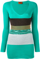 Missoni plunge V-neck band top - women - Cotton - 40