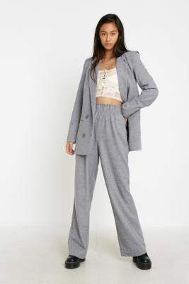 Gestuz Grey Tailored Trousers - grey 34W at Urban Outfitters