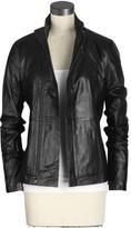Leather Front Biker Jacket