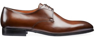 Santoni Lace-Up Leather Dress Shoes